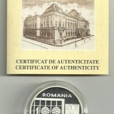 100 LEI 1998, CAMPIONATUL MONDIAL DE FOTBAL - FRANTA '98, AG, certificat BNR - Moneda Romania