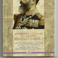 ROMANIA 10 LEI 2014, 175 Ani Nastere CAROL I, ARGINT, cert BNR, PROOF - Moneda Romania