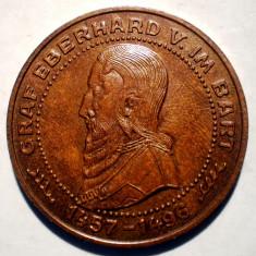 7.312 JETON SPARKASSE GRAF EBERHARD V. IM BART 26mm - Jetoane numismatica, An: 1980