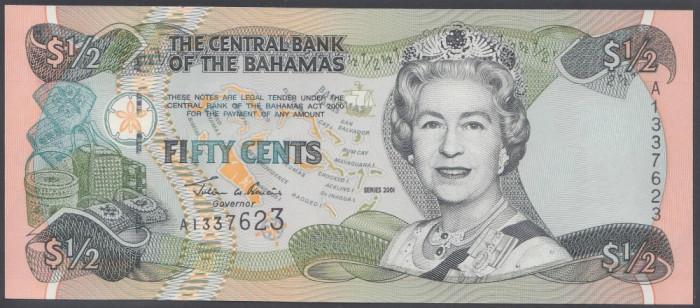 Bahamas 50 centi 2001 UNC