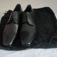 PANTOFI BARBATI HUGO BOSS ORIGINALI, Marime: 43, Culoare: Negru, Piele naturala, Negru