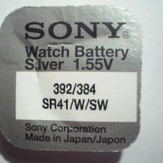 Baterie ceas Sony, cu argint AG3-LR41-G3-392-384-SR41/W/SW.