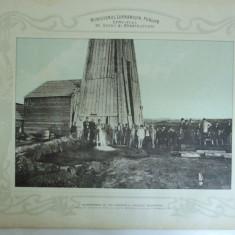 Plansa alimentarea cu apa potabila a Capitalei Bucuresti Sondaj nr. 2 la 150 m adancime 1903