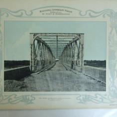 Plansa Podul pentru sosea peste Arges la Mihailesti de 170 m lungime Vedere interioara 1903