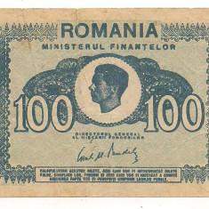 Bancnota-100 lei 1945 - Bancnota romaneasca
