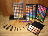 Trusa machiaj profesionala 180 culori set 12 pensule machiaj makeup fond de ten