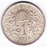 3) Austria Ungaria 1 Krone Korona Coroana 1915 argint