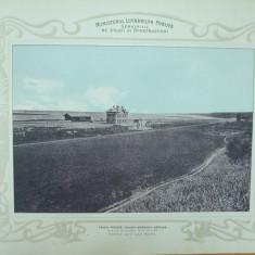 Plansa calea ferata Galati - Beresti - Barlad  Statia Tulucesti vederea spre lacul Brates 1903