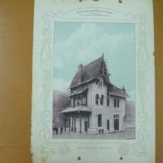 Plansa Calea ferata Targu Ocna - Palanca Halta Elie Radu 1903