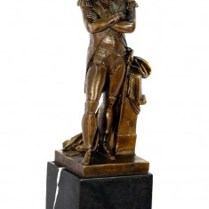 NAPOLEON-STATUETA DIN BRONZ PE SCOLU DIN MARMURA - Sculptura