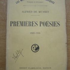 Alfred de Musset - Premieres poesies (lb. franceza) - Carte veche
