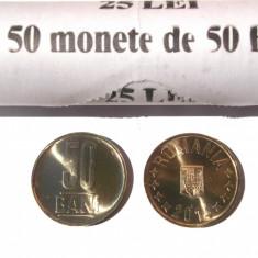 ROMANIA 50 BANI 2014 COMUNA UNC - LUCIU DE MONETARIE - DIN FISIC DE BANCA ** - Moneda Romania