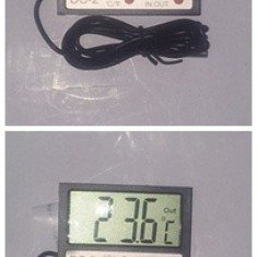Termometru digital si ceas - Termometru Auto
