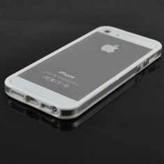 Husa bumper alb transparent Iphone 4 4s + folie protectie ecran + expediere gratuita Posta - sell by Phonica