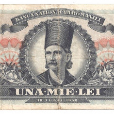 ROMANIA 1000 LEI 1948 U - Bancnota romaneasca