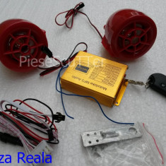 Alarma moto scuter Mp3 / Radio / SD / USB - Alarme Moto