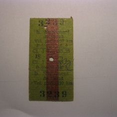 Bilet de tren din 1993