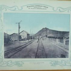 Plansa Calea ferata Bacau - Piatra Gara Piatra 1903