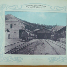 Plansa Calea ferata Campina - Doftana Gara Doftana 1903