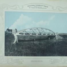Plansa Soseaua nationala Barlad - Vaslui Podul peste Horoeta 1903