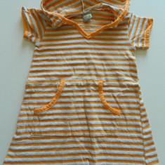 Rochie, rochita pentru fetite cu gluga, marimea 2-3 ani, ideala vara, moderna ideala si cu colanti