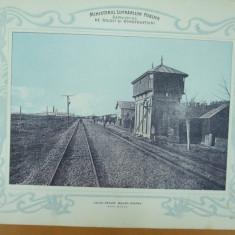 Plansa Calea ferata Bacau - Piatra Gara Buhus 1903