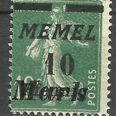 SUPRATIPAR / SUPRATIPAR GERMANIA-MEMEL 1922 MNH, Nestampilat
