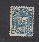 No(02)timbre-Romania 1930-Timbru statistic pentru colete postale 25 B-stampilat