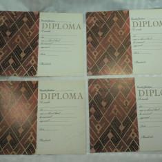 3 - DIPLOME SPORTIVE NESCRISE SI NEACORDATE - PERIOADA COMUNISTA - CONSILIUL JUDETEAN PENTRU EDUCATIE FIZICA SI SPORT - LOT DE 4 BUCATI - Diploma/Certificat