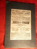 Afis Teatru 1946 in ziua decesului Autorului V.I.Popa ,cu dedicatie In Memoriam a regizorului C.D.Manoilescu
