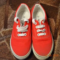Tenisi rosii - Tenisi copii, Marime: 33, Culoare: Rosu, Unisex