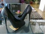 Pantofi Epica 35, Negru, Cu toc