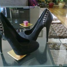 Pantofi Epica 35 - Pantof dama Epica, Culoare: Negru, Negru, Cu toc