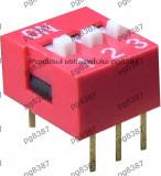 Intrerupator miniatura, x3 - 2 pozitii - 125701