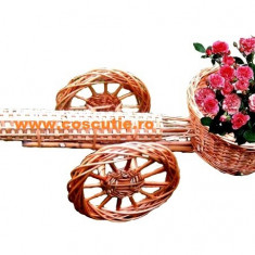 Ornament Tun din Rachita pentru Gradina Decor Suport Flori