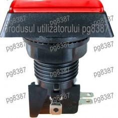 Push buton fara retinere, rosu, 15A, 250V, 43x50x33mm - 124765