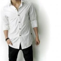Camasa barbateasca, ALBA, model gen Zara, noi, sigilate, nasturi metal cu capse - Camasa barbati, Marime: L/XL, Culoare: Din imagine, Maneca lunga