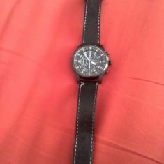 Seiko - Ceas barbatesc Seiko, Elegant, Mecanic-Manual, Metal necunoscut, Piele, Cronograf