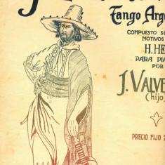 232 PARTITURA antebelica - Y... COMO LE VA ? -TANGO ARGENTINO -H.Herpin, pentru pian pentru J.Valverde -starea care se vede