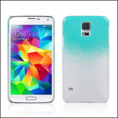 Husa Galaxy S5 Samsung NEO albastra efect 3D picaturi ploaie, Samsung Galaxy S5, Transparent, Plastic