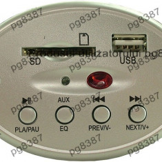 Modul decodor MP3, citire USB/ SD, cu telecomanda - 130303
