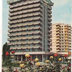 #carte postala(marca fixa)-BACAU-Hotel Decebal - Carte Postala Moldova dupa 1918, Circulata, Printata