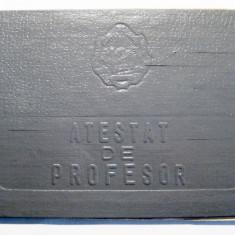Atestat de profesor de geografie 1958 RPR Ministerul invatamintului si culturii