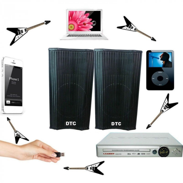 BOXE ACTIVE/AMPLIFICATE,PERECHE CU MIXER INCLUS,MP3 STICK USB/CARD,PUTERE 300WATT,EFECTE VOCE+2 MICROFOANE BONUS.