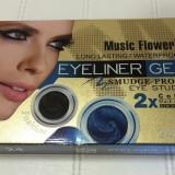 Eyeliner Gel, Tus de ochi gel, Music Flower Smudge Proof Eye Studio 2xColor