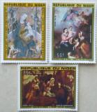 NIGER 1979 - PICTURA CRACIUN 3 VALORI, NEOBLITERATE - E1678, Arta