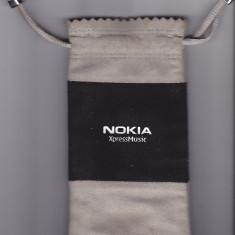 Case Husa Nokia XpressMusic din piele naturala intoarsa - Husa Telefon Nokia, Gri
