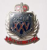 SUPER BOWL XXV FOTBAL AMERICAN TAMPA 1991 PIN INSIGNA DIN METAL SI EMAIL, America de Nord