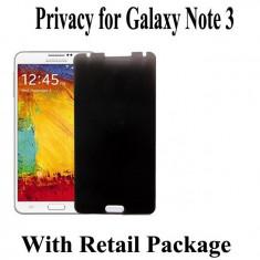 Folie de protectie privacy 180' Samsung Note 3 III Note3 N9000 N9002 N9005 anti spion