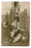 1668 - PORT POPULAR - fetita - old postcard - used